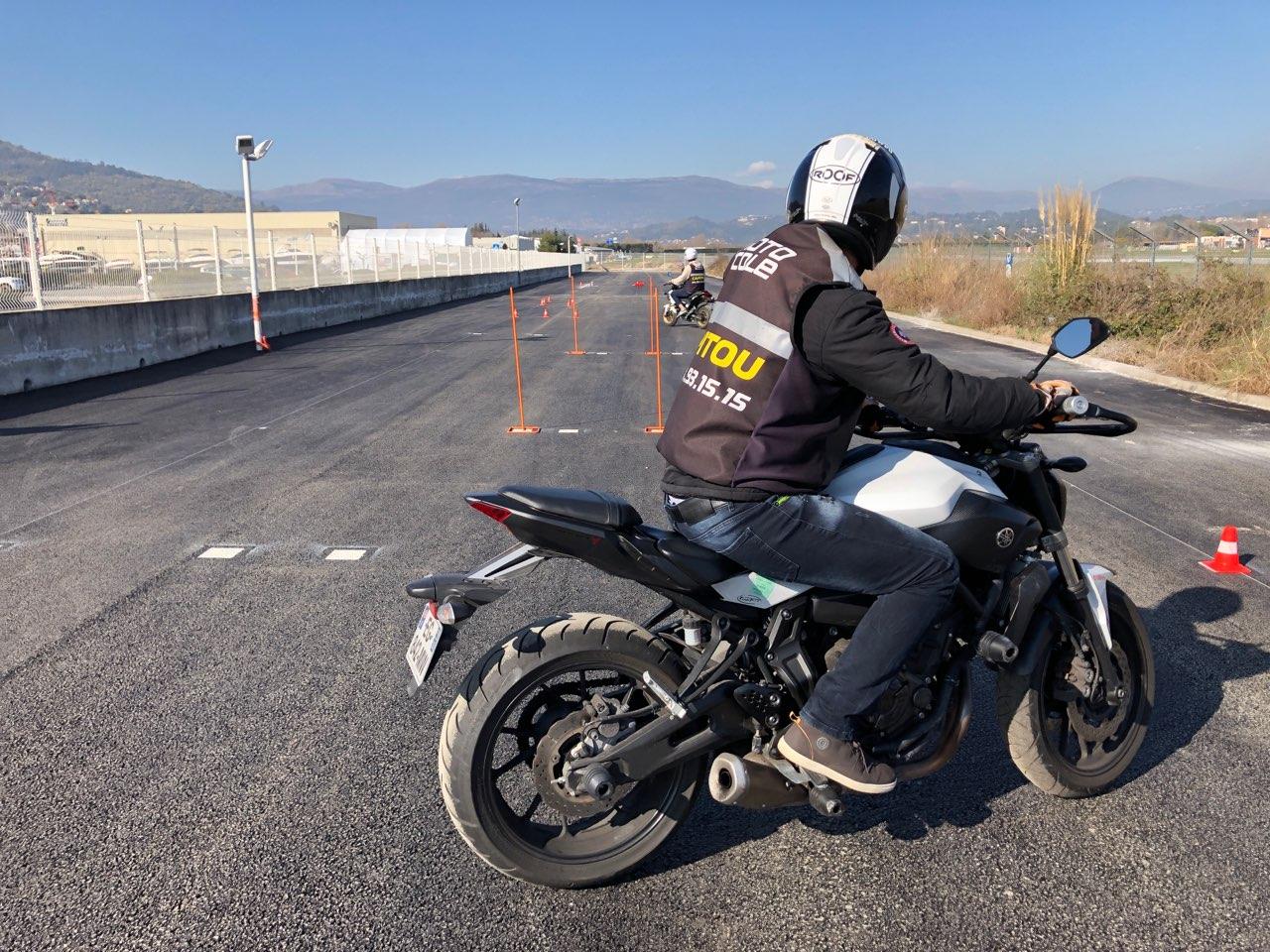 Piste moto-école